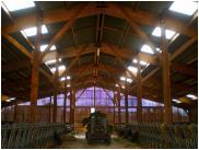 Bâtiments agricoles Fabrice Pouget - Entreprise de maçonnerie - Vienne 86 - Batiment agricole ovin en bois de douglas de 1080 m2 dans la Vienne